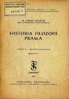 Historia filozofii prawa. Cz. 2, Średniowiecze. Z. 3 - Mycielski, Andrzej (1900-1993)