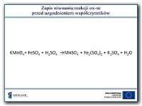 Zapis równania reakcji ox-red przed uzgodnieniem współczynników - Paśko, Jan Rajmund (1943- )