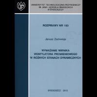Wyważanie wirnika wentylatora promieniowego w różnych stanach dynamicznych - Zachwieja, Janusz