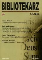 Bibliotekarz 2008, nr 7-8