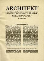 Architekt 1910 z. 1