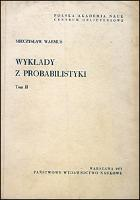 Wykłady z probabilistyki. T. 2 - Warmus, Mieczysław (1918-2007)