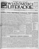 Wiadomości Literackie. 1935, nr 20 (19 V) = nr 600