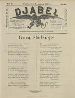 Djabeł. 1899, nr 22 (15 XI)