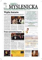 Gazeta Myślenicka. 2008, nr 47 (18 grudzień) = nr 631