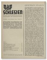 Schlesien: Zeitschrift für den gesamtschlesischen Raum. 2. Jahrgang, Juli/August 1940, Folge 7/8