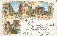 Poznań/Posen; Naumann-Strasse; Stadthaus; Wallischei Bruecke; Breitan Strasse; Chwaliszewo