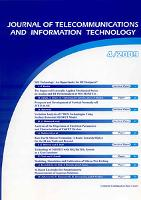 Journal of Telecommunications and Information Technology, 2009, nr 4