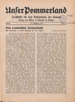 Unser Pommerland : Zeitschrift für das Kulturleben der Heimat : 22. Jahrgang 1937