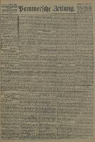 Pommersche Zeitung : organ für Politik und Provinzial-Interessen. 1907 Nr. 121 Blatt 1