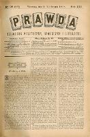 PRAWDA : tygodnik polityczny, społeczny i literacki 1901 R. XXI nr 35