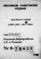 Interessio delegatorum ordinum generalium ad SR.Maiestetem Poloniae pro dissidentibus in feligione a 1660 /Kopie materiałów
