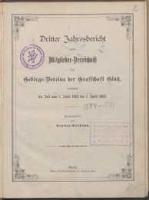 Dritter Jahresbericht nebst Mitglieder-Verzeichnis des Gebirgs-Vereins der Grafschaft Glatz umfassend die Zeit vom 1. April 1883 bis 1. April 1884