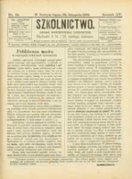 Szkolnictwo : organ nauczycieli ludowych. 1905, R.15, nr 33