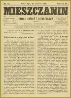 Mieszczanin : organ miast i miasteczek. 1908, R.9, nr 12