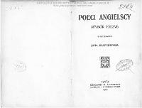 Poeci angielscy : (wybór poezyi) / w przekładzie Jana Kasprowicza.