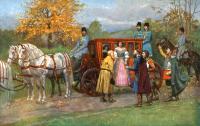 Spotkanie Heleny ze Skrzetuskim po uwolnieniu Zbaraża z oblężenia - Piotrowski, Antoni Adam (1853-1924)