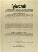 Ogłoszenie c.k. Prezydenta rządu krajowego w Śląsku z dnia 27 lipca 1914 r., Res. Nr. 33/41, dotyczące uregulowania obrotu granicznego z samochodami (automobilami i kołami motorowymi), kołami (bicyklami), końmi, mułami i osłami przez śląską granicę cłową w górnym i dolnym Śląsku do Prus