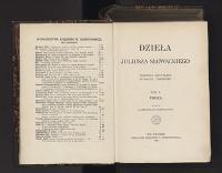 Dzieła Juliusza Słowackiego. T. 10, Proza - Słowacki, Juliusz (1809-1849)