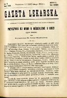 Gazeta Lekarska 1902 R.37, t.22, nr 8