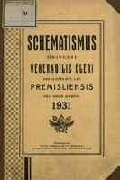 Schematismus Universi Venerabilis Cleri saecularis et regularis Dioecesis Premisliensis rit. lat. pro Anno Domini 1931