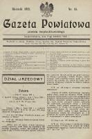 Gazeta Powiatowa Powiatu Świętochłowickiego = Kreisblattdes Kreises Świętochłowice. 1931, nr15