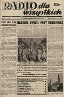 Radio dla Wszystkich : popularny tygodnik radiowy. 1939, nr15