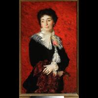 Portret damy - Wyczółkowski, Leon (1852-1936)