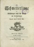 Die Schmetterlinge in Abbildungen nach der Natur mit Beschreibungen. T. 3 - Esper, Eugen Johann Christoph (1742–1810)