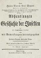 Abhandlungen zur Geschichte der Insekten aus dem Französischen übersetzt und mit Anmerkunge [...]. T. 2, cz. 1 - Geer, Charles de (1720–1778)