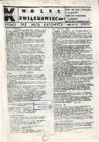 Wolny Związkowiec, 1985, [nr 1] z dnia 23 czerwca