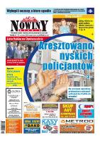Nowiny Nyskie 2015, nr 38. - red. nacz. Renata Wąsowicz-Hołota.