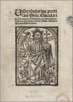 Vocabularius poeticus Sive Elucidarius Carminum et Historiarum: continens fabulas, Historias Provincias Urbes Insulas Fluvios et Montes illustres et cetera - Torrentinus, Hermannus (ok. 1450 - ok. 1520)