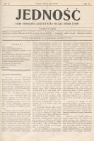 Jedność : pismo poświęcone szerzeniu myśli polskiej wśród Żydów. 1912, nr24