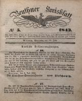 Beuthner Kreisblatt, 1843, No 5