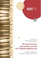 Planowanie pracy nauczyciela polonisty na IV etapie edukacyjnym. Poradnik metodyczny z przykładami zadań maturalnych - Renata Bryzak