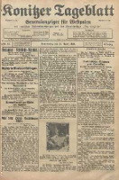 Konitzer Tageblatt.Amtliches Publikations=Organ, nr91