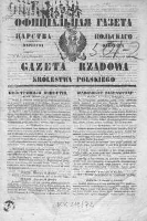 Gazeta Rządowa Królestwa Polskiego 1840 I, No 1