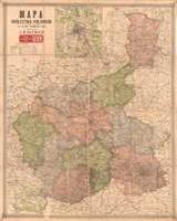 Mapa Królestwa Polskiego (z planami okolic Warszawy i Zagłębia Dąbrowskiego) - Bazewicz, J. M. oprac.