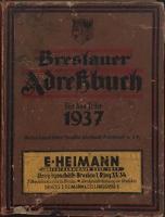 Breslauer Adressbuch für das Jahr 1937