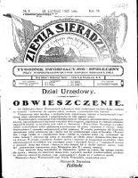 Ziemia Sieradzka 1925 R. 7, nr 8 - Brzeziński, Aleksander (1878-1941). Red. i Wydawca
