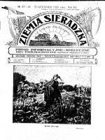 Ziemia Sieradzka 1925 R. 7, nr 43/44 - Brzeziński, Aleksander (1878-1941). Red. i Wydawca