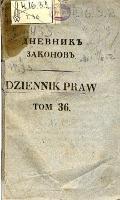 Dziennik praw Królestwa Polskiego. T. 36, nr 113.
