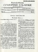 Warszawskie Czasopismo Lekarskie 1933 R.10 nr 4