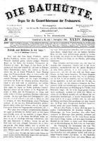 Die Bauhuette. Organ für die Gesammt-Interessen der Freimaurerei 1891.11.07 Jg.34 Nr45