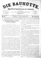 Die Bauhuette. Organ für die Gesammt-Interessen der Freimaurerei 1906.10.27 Jg.49 Nr43