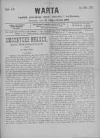 Warta: tygodnik poświęcony nauce, rozrywce i wychowaniu 1889.13/20 R.15 Nr756/757