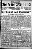 Die freie Meinung 1921-09-03 Jg.3 Nr 36