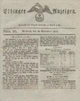 Elbinger Anzeigen, Nr. 90. Mittwoch, 16. November 1825