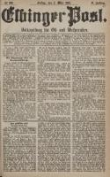 Elbinger Post, Nr. 53, Freitag 4 März 1881, 8 Jahrg.